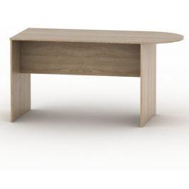 Tempo Kondela Kancelářský stůl s obloukem, bardolino tmavé, TEMPO AS NEW 022