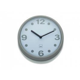 KELA Nástěnné hodiny Genua plast, šedá 17,5cm