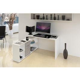 Tempo Kondela PC stůl, bílá / beton, NOE NEW