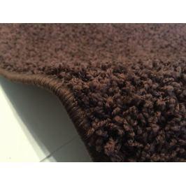 Color shaggy tmavě hnědý, 1 m2 color shaggy tmavě hnědá