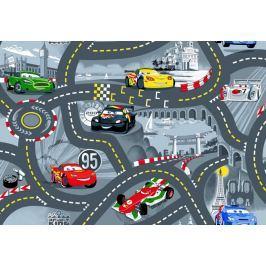 Dětský koberec The World od Cars 97 šedý, 80 x 120 cm
