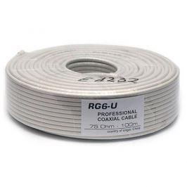 OEM Kabel Koaxiální kabel RG6 (75 ohm) - 100 m bílý