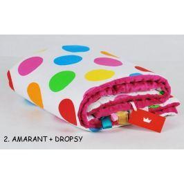Deka na hraní 100/75 barevné puntíky+amarant