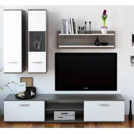 Tempo Kondela Obývací stěna, dub truflový / bílá, WAW