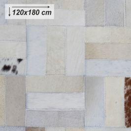 Tempo Kondela Luxusní koberec, kůže, typ patchworku, 120x180 cm, KOBEREC KOŽA typ1