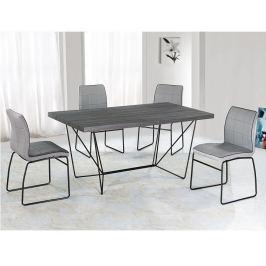 Tempo Kondela Jídelní stůl, šedá / černá, PALMER