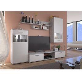 Tempo Kondela Obývací stěna, bílá / beton světlý, BREAK