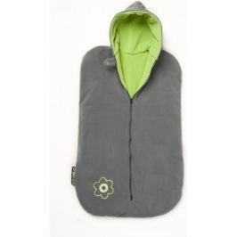 Babyvak Spacák fleecový bez rukávů šedá/zelená