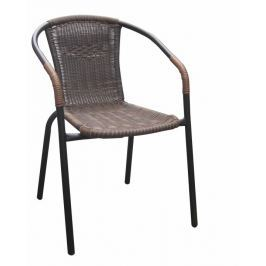 Tempo Kondela Židle, stohovatelná, hnědá/ černé nohy, DOREN