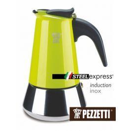 Pezzetti Moka konvice  SteelExpress 4 šálky zelená
