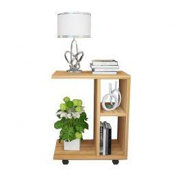 Tempo Kondela Příruční stolek, dřevo borovice, ABBAS