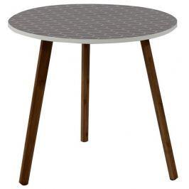 Tempo Kondela Příruční stolek, šedá/dřevo natural, HANSON