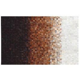 Tempo Kondela Luxusní koberec, kůže, typ patchworku, 140X200 cm, KOBEREC KOŽA typ7
