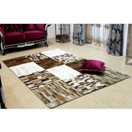 Tempo Kondela Luxusní koberec, kůže, typ patchworku, 141x200 cm, KOBEREC KOŽA typ4
