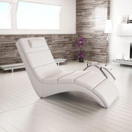 Tempo Kondela Relaxační křeslo, ekokůže bílá, LONG