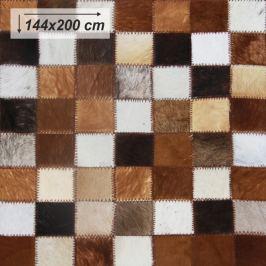 Tempo Kondela Luxusní koberec, kůže, typ patchworku, 144x200cm, KOBEREC KOŽA typ3