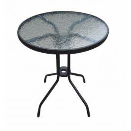 Tempo Kondela Jídelní stůl, černá ocel / temperované sklo, BORGEN TYP 1