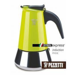 Pezzetti Moka konvice  SteelExpress 6 šálků zelená