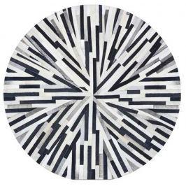 Tempo Kondela Luxusní koberec, kůže, typ patchworku, 150x150 cm, KOBEREC KOŽA typ8