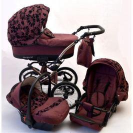 BABYLUX Margaret fialová s květy 2014 +autosedačka
