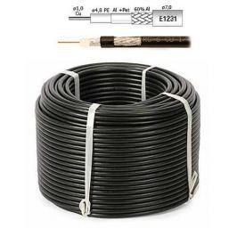 OEM Kabel Koaxiální kabel RG6 Cu PE (75 ohm) - 100 m černý
