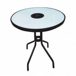 Tempo Kondela Jídelní stůl vhodný k zahradnímu setu, cen oceli / temperované sklo, OLIVAN