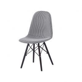 Tempo Kondela Jídelní židle, černá / bílá, AMPERA