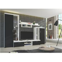 Tempo Kondela Obývací stěna, černá / bílá, LIBERTY