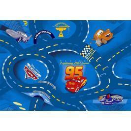Dětský koberec Cars 77 World of cars blue, Kruh průměr 200 cm