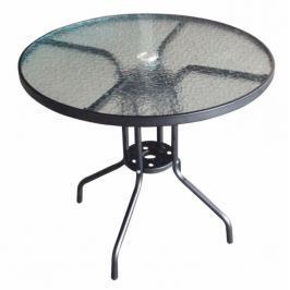 Tempo Kondela Jídelní stůl vhodný, černá ocel / temperované sklo, BORGEN TYP 2