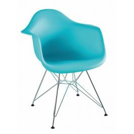 Tempo Kondela Židle - křeslo, mentol + chrom, FEMAN NEW