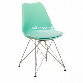 Tempo Kondela Židle, mentol + chrom, METAL
