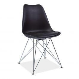 Tempo Kondela Židle, černá + chromové nohy, METAL NEW