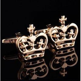 Manžetové knoflíčky s motivem královské koruny zlatá