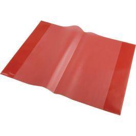 PANTA PLAST Obal na sešit + štítek, červená, A5, PVC,