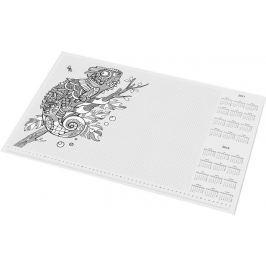 PANTA PLAST Podložka na stůl Flowers, A3, 410x275 mm, s omalovánkou,