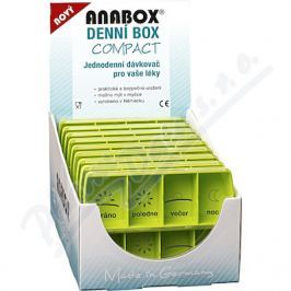 ANMED Dávkovač na léky - zelený ANABOX denní box COMPACT