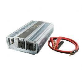 WHITENERGY Napěťový měnič AC/DC z 24V na 230V 1500 W, 2 zásuvky
