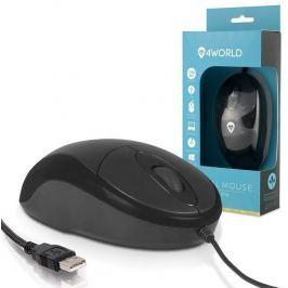 4WORLD Myš optická BASIC2, USB, 1200dpi, černá