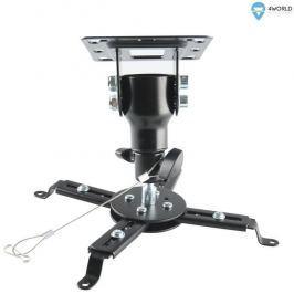 4WORLD Otočný a sklopný stropní držák projektoru 15,5 cm, BLK
