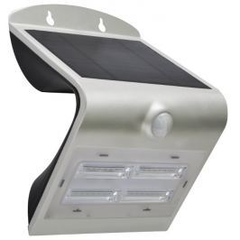 IMMAX venkovní solární LED osvětlení s čidlem/ 3,2W/ 4000-4500K/ IP65/ stříbrné