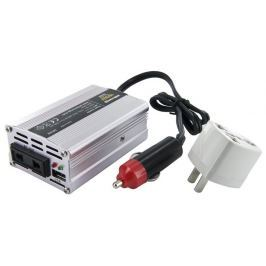 WHITENERGY Napěťový měnič AC/DC z 12V na 230V 150 W, USB, mini