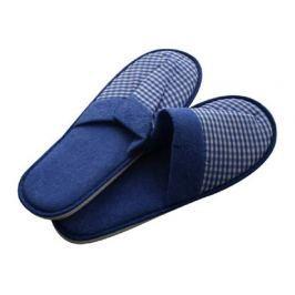 VETRO-PLUS Pantofle pro hosty dámské (26-28 cm) a pánské (29-32 cm), beige, tmavě modré