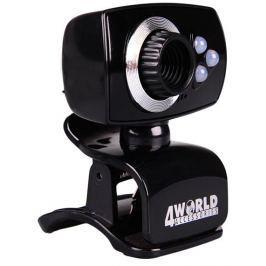 4WORLD Internetová kamera 2 Mpx USB 2.0 s LED podsvícením + mikrofon, univerzá