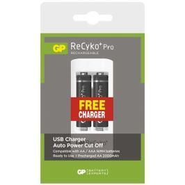 GP Batteries Nabíjecí baterie GP ReCyko+ Pro HR6 (AA), 2ks + nabíječka