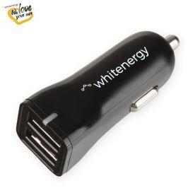 WHITENERGY Univerzální nabíječka do vozu 12-24V s 2xUSB 5V/2.4A