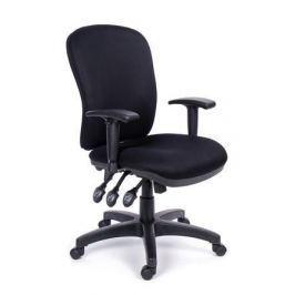 MAYAH Manažerská židle Super Comfort, textilní, černá, černá základna,