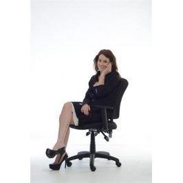 MAYAH Manažerská židle, textilní, černá základna,  Active, černá