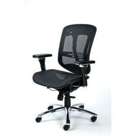 MAYAH Manažerská židle Flow, textilní, černá, chromovaná základna,