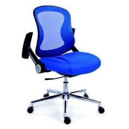 MAYAH Ergonomická kancelářská židle, síť.textilie, síť.opěrák, chromovaná základna,  M